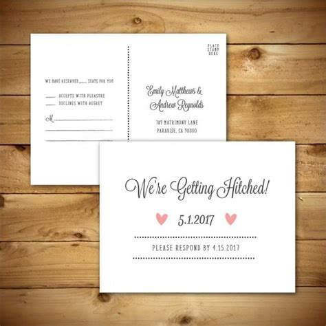 rsvp cards templates microsoft printable wedding rsvp response card template