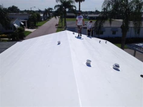 three popular mobile home roof materials