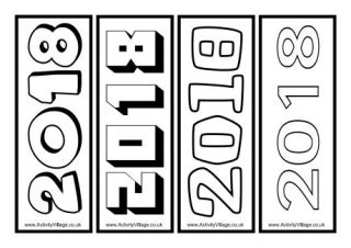 2018 colouring bookmarks 2
