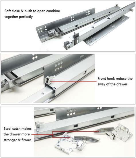 Automatic Drawer Closer by Consealed Automatic Drawer Slide Soft And Push Open