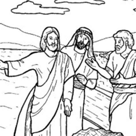 coloring pages jesus fish disciples bible stories netart part 2