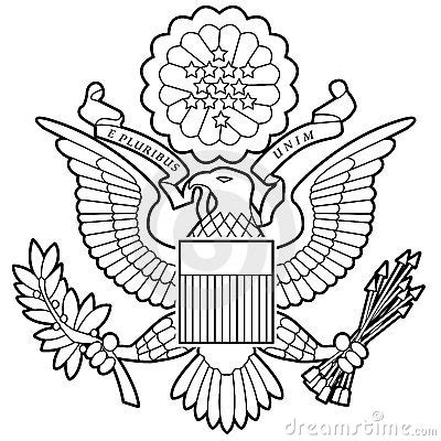 united states seal coloring page best photos of the great seal of united states of america