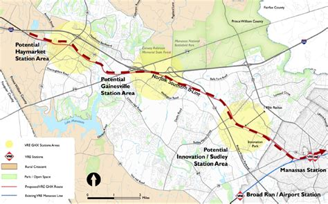 vre map expanding the virginia railroad express vre rail network