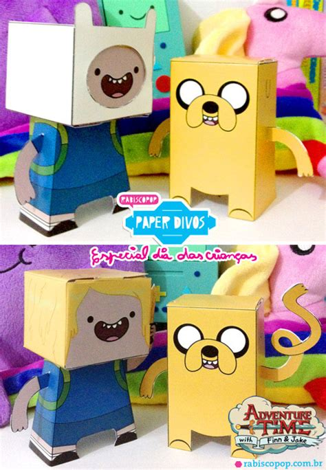 Adventure Time Paper Crafts - ninjatoes papercraft weblog adventure time finn jake