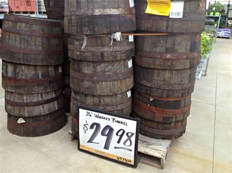 whiskey barrels from the home depot these are