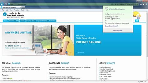 bank of india net banking corporate login to sbi