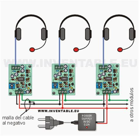 cable layout en espanol intercomunicador con auriculares inventable