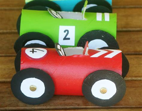 How To Make A Paper Race Car - how to make toilet paper roll race cars diy crafts