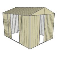 Shed 3x3 by Garden Shed Gable 2 3x3 0m 1 Sliding Door 2 Sliding
