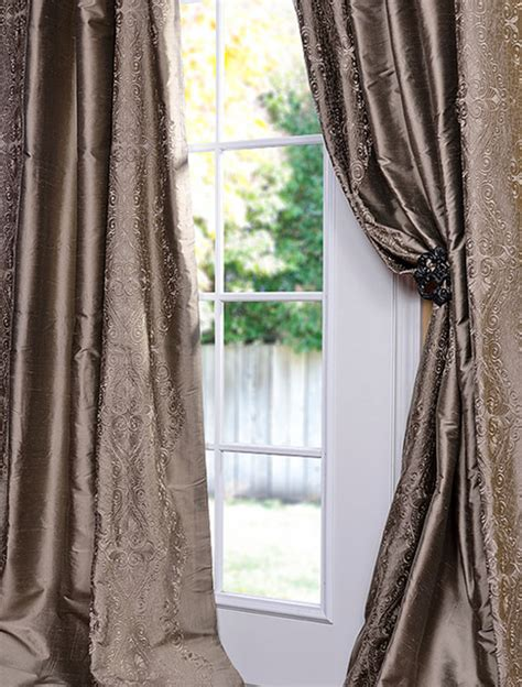 traditional curtains and drapes chai silver thai silk curtain traditional curtains