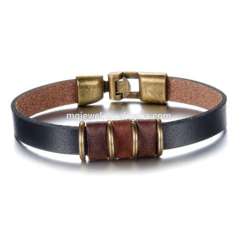 Handmade Mens Leather Bracelets - 2015 selling handmade bracelet mens leather bracelet
