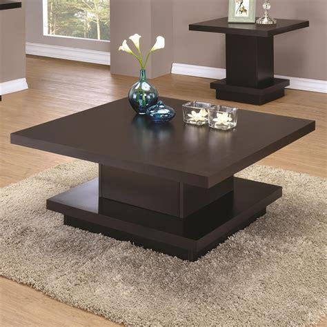 coaster furniture coffee table coaster 70516 modern pedestal coffee table value city