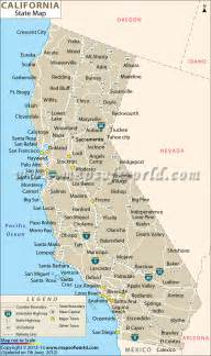 Map Of The State Of California by California Cities Map Free Large Images