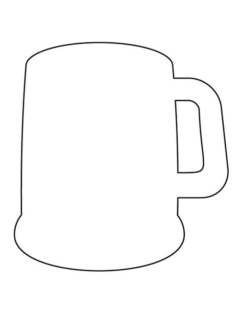 printable glass stencils beer mug pattern use the printable outline for crafts