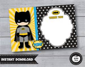 batman thank you card boys birthday by redapplestudio
