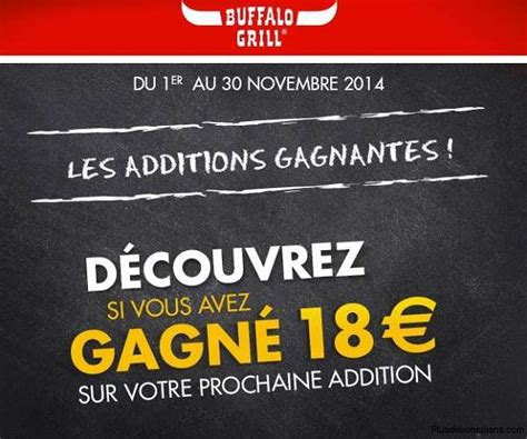 Code Promo Buffalo Grill by Buffalo Grill Additions Gagnantes 945 Bons R 233 Duction 18