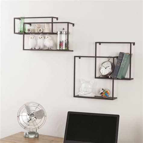 wire wall shelves zyther metal wall shelves set of 4 froy
