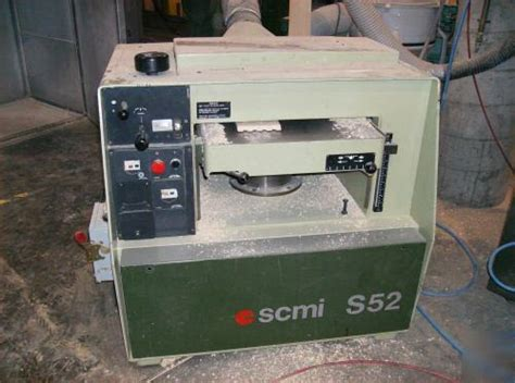 scmi woodworking equipment scmi s52 20 quot planer used woodworking machinery