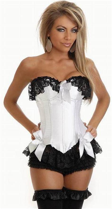 Black Lace Flower Dress M L Xl 13351 attractive s lace corset guipure white corset with black lace flower 4f3007 s m l xl