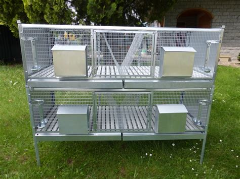 conigli in gabbia gabbia conigli a due piani sovrapponibili la fattoria