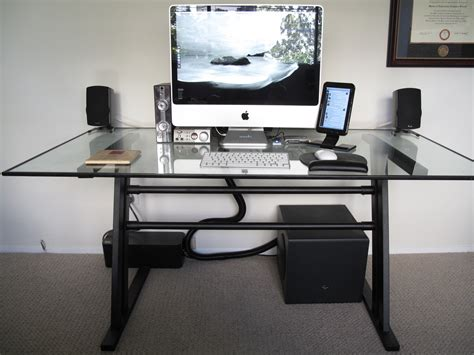 Hide Computer Cables On Desk by Before And After The Wire Loom Workspace