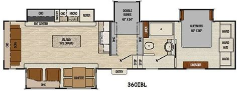 bunkhouse fifth wheel floor plans floor plan coachmen chaparral 360ibl fifth wheel bunk