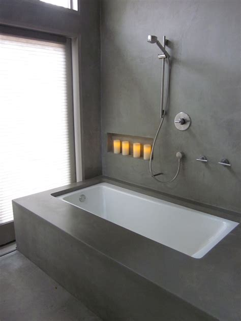 custom bathtub surrounds commissioned work concrete planters
