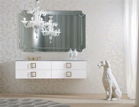 d14 high end italian bathroom vanity in white lacquer