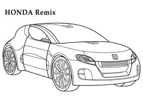 coloring pages honda cars honda remix cars coloring pages kids coloring pages free