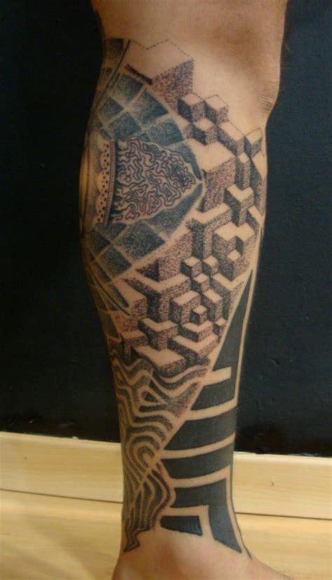 tattoo 3d pierna tatuaje 3d en la pierna tatuajes en la pierna
