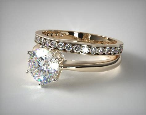 1101114025y six prong wire basket engagement ring and