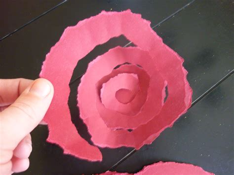 Roses Out Of Paper - antiqued paper wreath