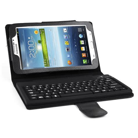 Keyboard Tablet Samsung flip cover stand with keyboard for samsung galaxy tab 3 7 0 tablet ebay