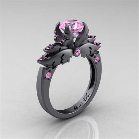 classic 14k gray gold 1 0 carat light pink sapphire