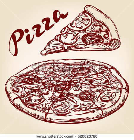 Mexican Style Kitchen Design Pizza Drawing Stock Images Royalty Free Images Amp Vectors