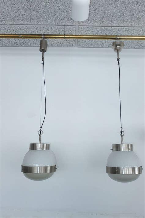 artemide len pair of delta pendants by sergio mazza for artemide at 1stdibs