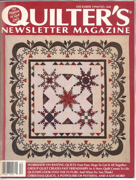 The Newsletter Magazinedecember Issuei by Quilter S Newsletter Magazine Back Issue Craft Magazine