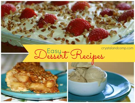 easy dessert recipes dessert recipes easy recipes