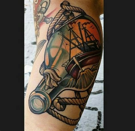 ship in a bottle tattoo ship in a bottle ideas