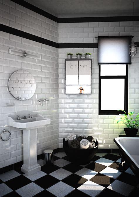 Attrayant tableau pour salle de bain #1: salle-de-bain-carrelage-original.png