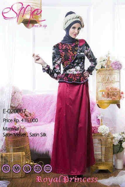 Gamis Katun Esme E 040214 esme royal princess e 020807 baju muslim gamis modern