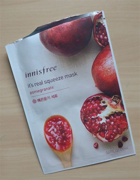 Innisfree I Ts Real Squeeze Mask innisfree its real squeeze mask pomegranate review