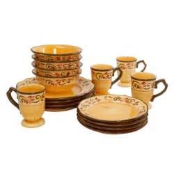 brown set gibson heritage park 16 stoneware reactive glaze