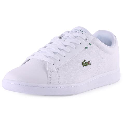 lacoste carnaby htb mens leather synthetic white green