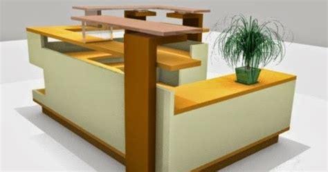 Meja Pi jasa pembuatan meja kantor partisi booth meja bar kitchen set pembuatan meja receptionist