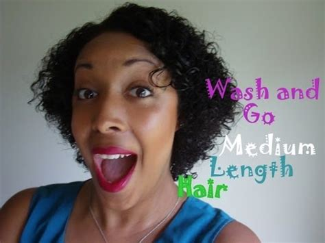 wash and go medium length hairstyles that hide double chin natural hair wash and go medium length hair youtube