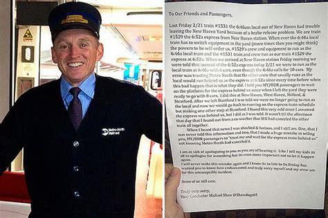 conductor wrote apology letter to 500 passengers for