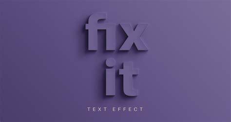 fix  psd text effect photoshop text effects pixeden