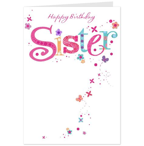 printable birthday cards for a sister happy birthday sister greeting card for you graphic