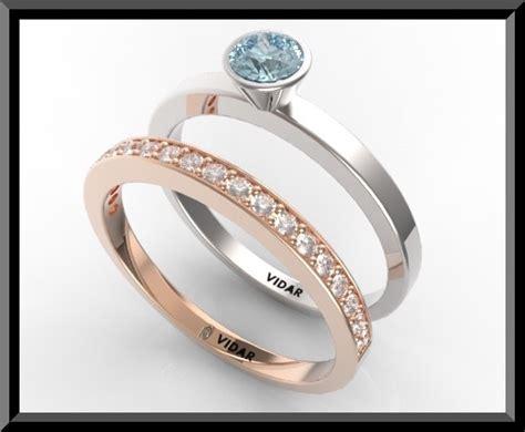 blue topaz wedding ring set vidar jewelry unique